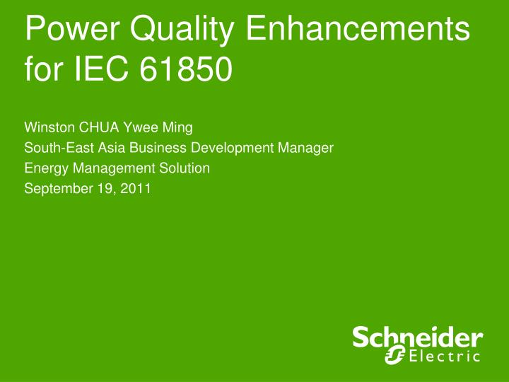 power quality enhancements for iec 61850 n.