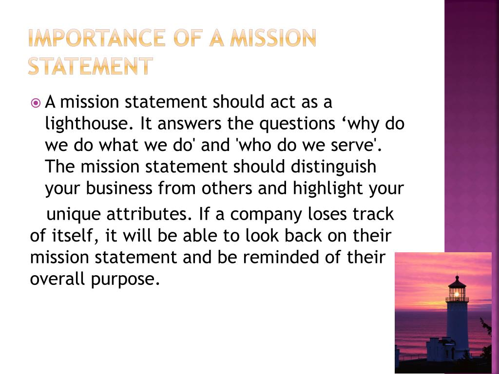 Importance Of A Mission Statement