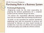 dps 304 procurement management purchasing role in a business system1