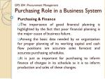dps 304 procurement management purchasing role in a business system10