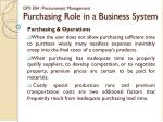 dps 304 procurement management purchasing role in a business system5