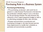 dps 304 procurement management purchasing role in a business system7
