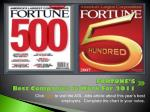 fortune s best companies to work for 2011