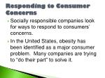 responding to consumer concerns
