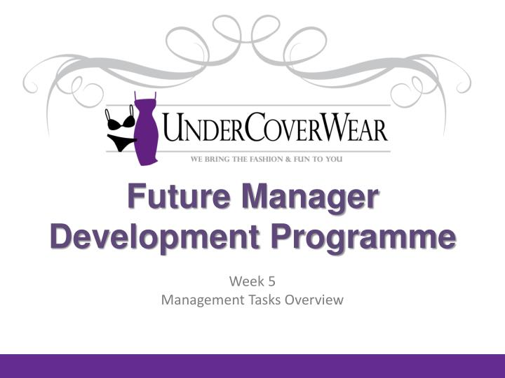 future manager development programme n.