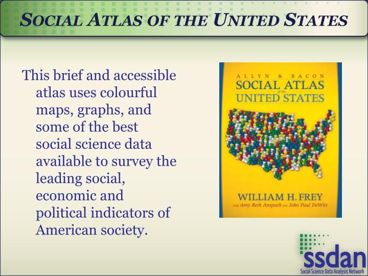 Social Atlas of the United States