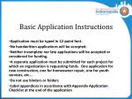 basic application instructions