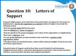 question 10 letters of support
