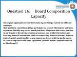 question 16 board composition capacity