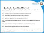 question 3 consolidated plan goals