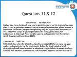 questions 11 12