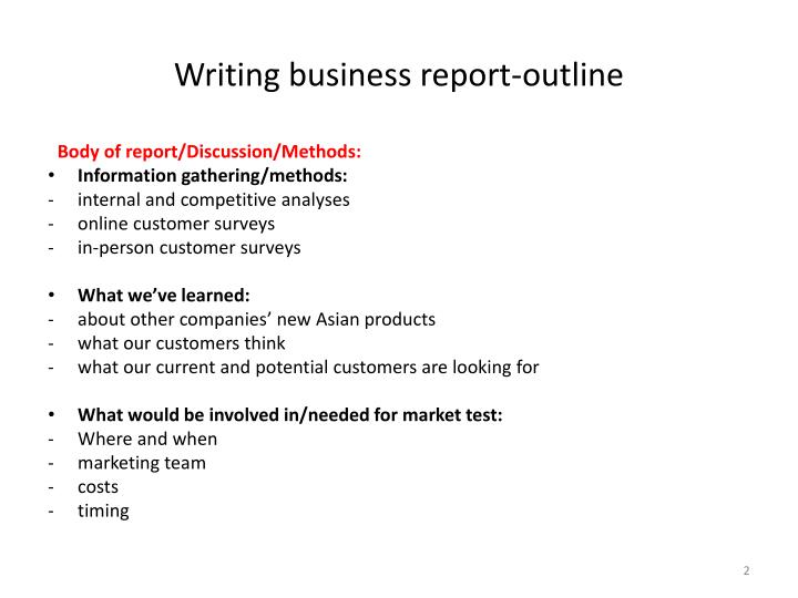 Business report outline kubreforic business report outline accmission Images