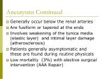 aneurysms continued