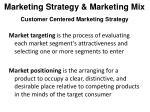 marketing strategy marketing mix customer centered marketing strategy