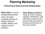 planning marketing partnering to build customer relationships