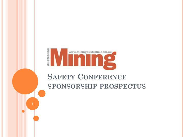 safety conference sponsorship prospectus n.