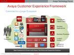 avaya customer experience framework