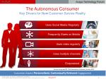 the autonomous consumer key drivers for new customer service reality