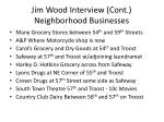 jim wood interview cont neighborhood businesses