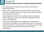 principle 9 prioritize requirements for delivering business value