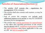 articles of association section 5