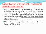 authentication of documents proceedings and contracts sec 21