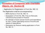 formation of companies with charitable objects etc section 81