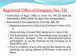 registered office of company sec 12