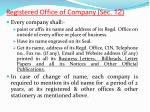 registered office of company sec 121