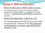 signing of moa by subscribers1