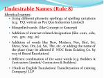 undesirable names rule 81
