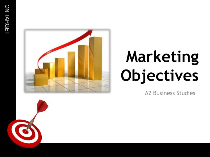 marketing objectives n.