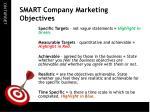smart company marketing objectives