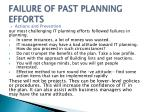 failure of past planning efforts1