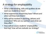 a strategy for employability