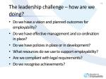 the leadership challenge how are we doing