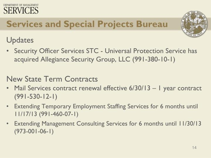 Services and Special Projects Bureau