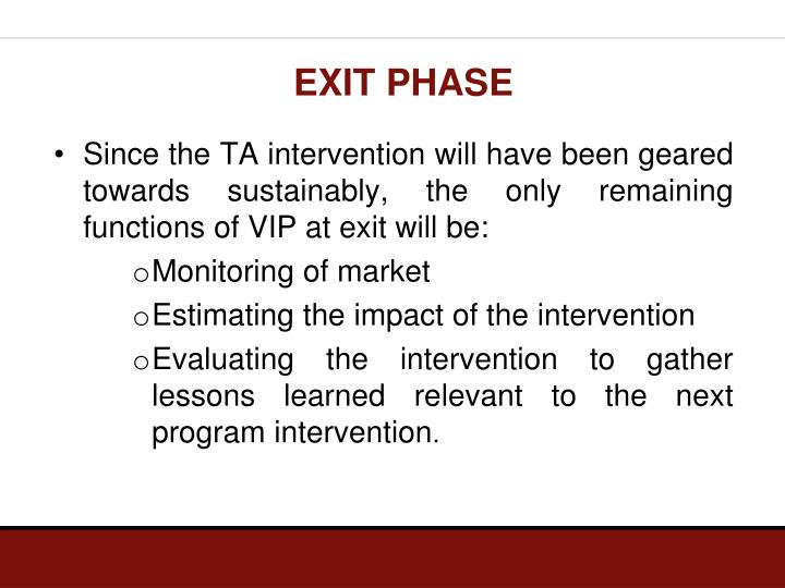 EXIT PHASE
