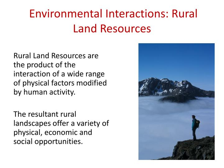 environmental interactions rural land resources n.
