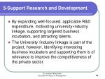 5 support research and development