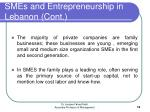 smes and entrepreneurship in lebanon cont