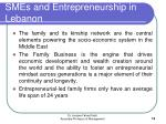 smes and entrepreneurship in lebanon