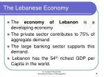the lebanese economy