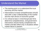 understand the market