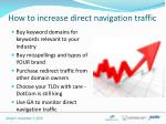 how to increase direct navigation traffic