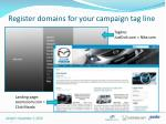 register domains for your campaign tag line