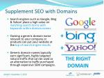 supplement seo with domains