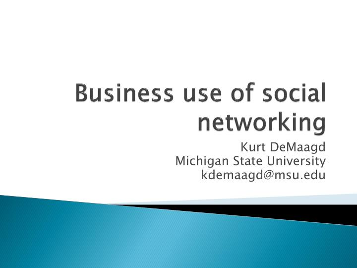business use of social networking n.
