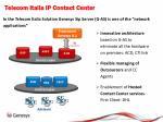 telecom italia ip contact center