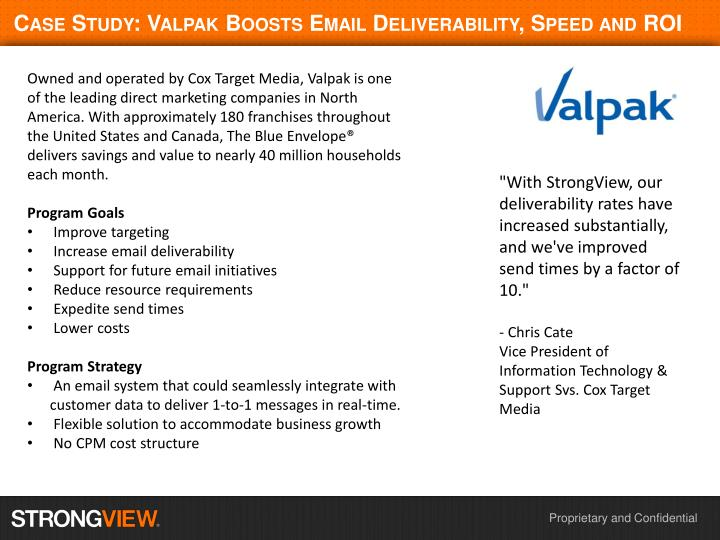 case study valpak boosts email deliverability speed and roi n.